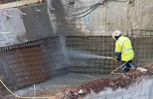 püskürtme beton uygulaması