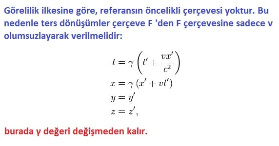 Lorentz Dönüşümü nedir
