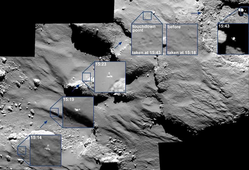 Philae kuyruklu yıldızdaki izleri