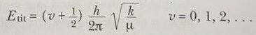 molekülün titreşim enerjisi