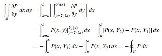 düzlemde green teoremi formül