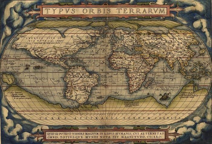 ortelius dünya haritası