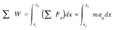 kinetik enerji ve iş - kinetik enerji teoremi formülü
