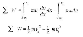 iş kinetik enerji formülleri