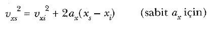 tek boyutta sabit ivmeli hareket nedir 1