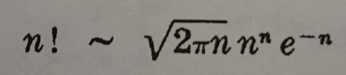 gama fonksiyonu için asimtotik