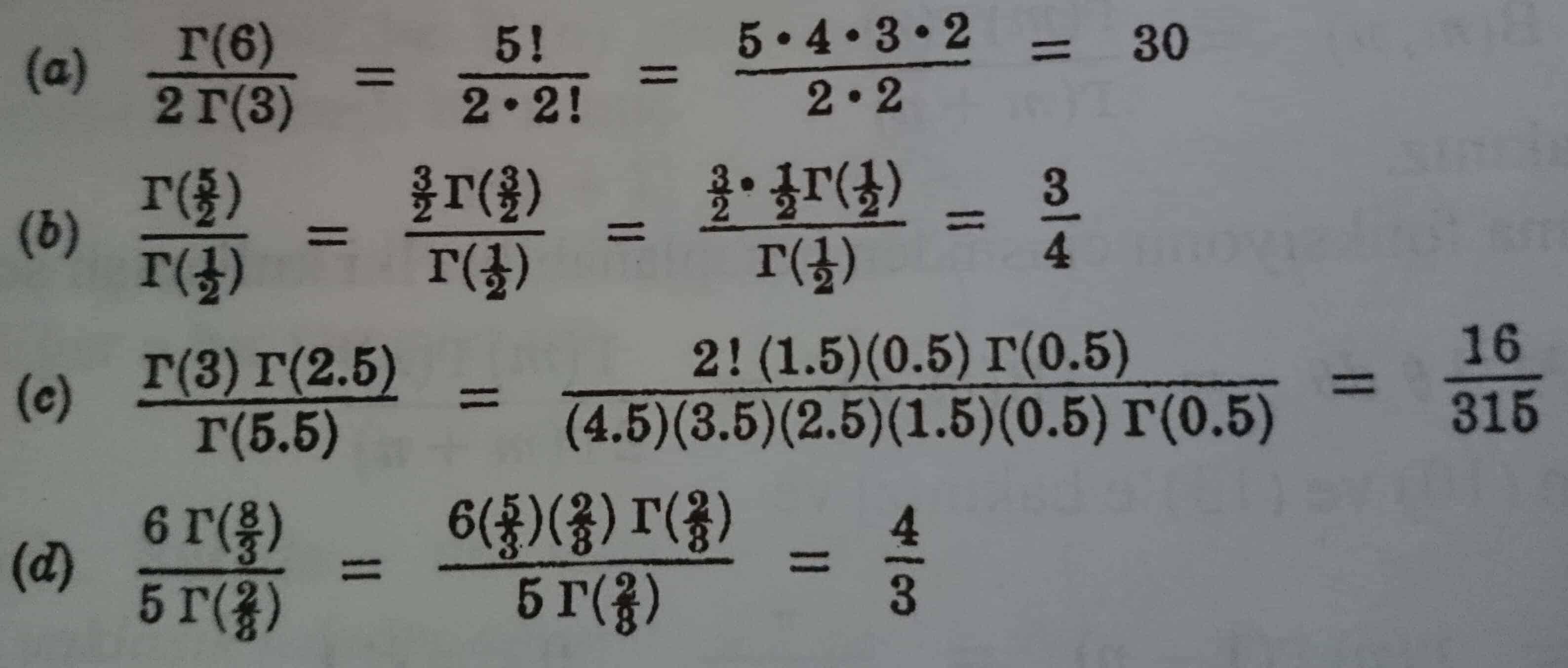 çözümlü örnekler gama fonksiyonu