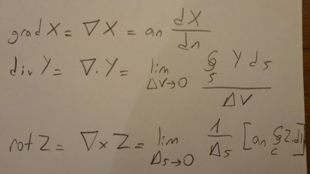 Maxwell Denklemleri vektörler