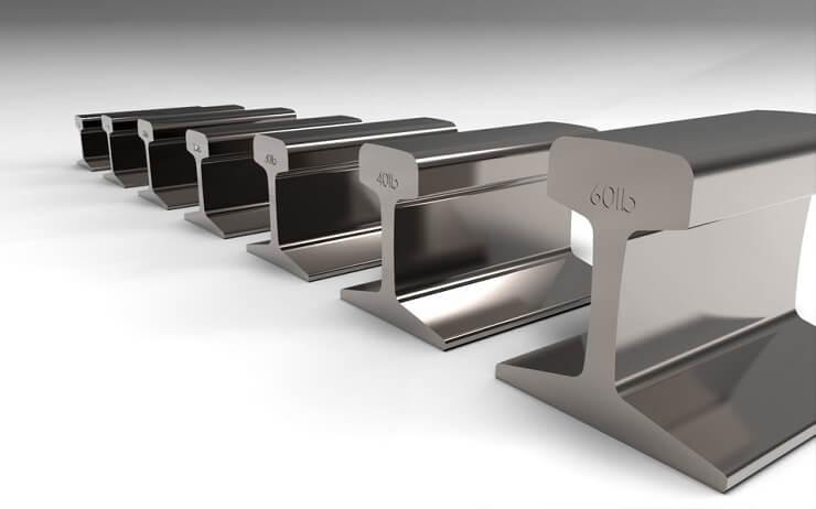 Belli ölçülerde üretilen demiryolu rayları