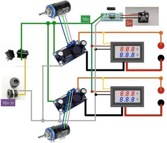 Kullanışlı güç kaynağı şematik devresi