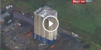Avustralya'da Patlayıcı ile Dev Bina Yıkımı