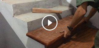 Ahşap Merdiven Kaplama Yapımı