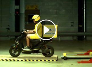 scooter'ın 40km hız i̇le çarpışma testi