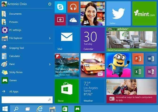 Windows 10 Arayüz Değişimi