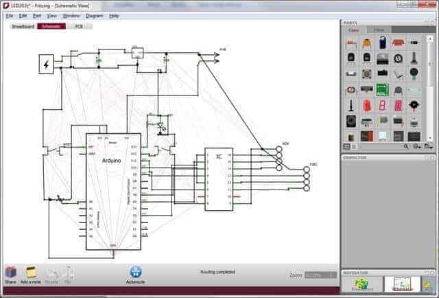 Fritzing devre tasarım programı çalısma
