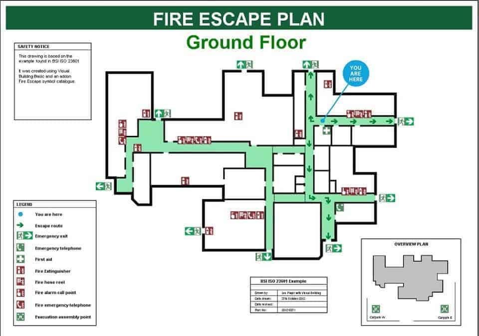 Yangın kaçış planı