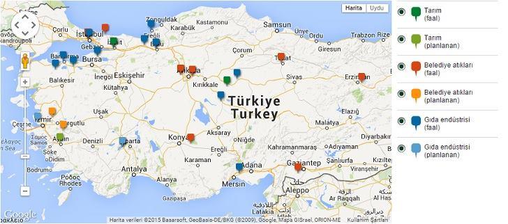 Türkiyede biyogaz dağılımı
