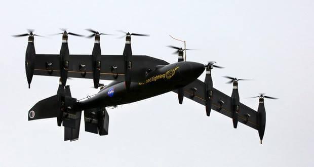 10 motorlu hibrid drone