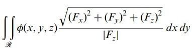 dik koordinatlarda yüzey integralleri
