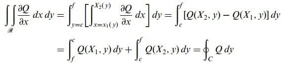 düzlemde green teoremi eşitlik