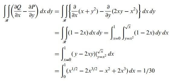 düzlemde green teoremi sağlaması
