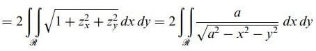 yüzey integralleri örnek formülü