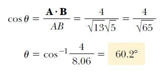 vektörlerin skaler çarpımı nasıl yapılır