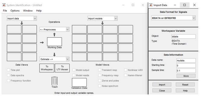 Sistemden elde edilen iddata'nın SI Toolbox'a eklenmesi