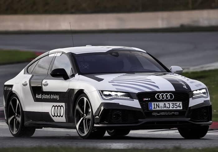 Audi rs7 self driving car