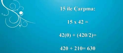 matemetiği kolaylaştıran yöntemler