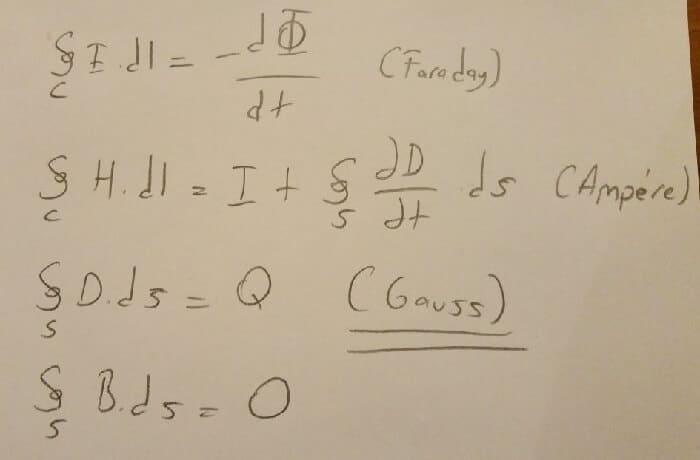 maxwell denklemleri integral alımı