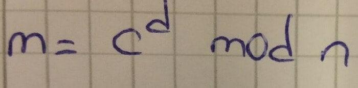 Mesaj çözümlemede kullanılan formül