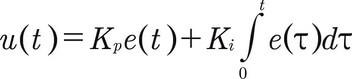 PI denetleyicisinin matematiksel formülü