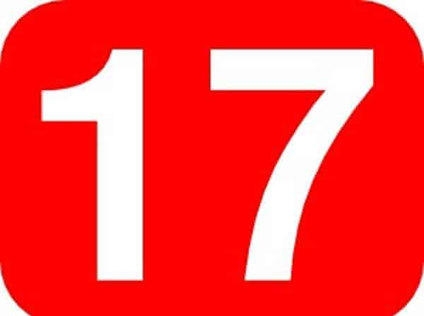 uğursuz sayı 17