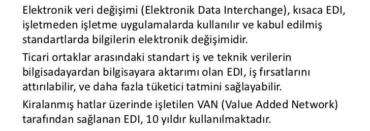 Elektronik Veri Değişimi Nedir