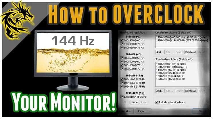 Monitör Overclock İşlemi Nasıl Yapılır