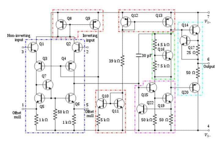 Op-Amp'ın iç yapısı