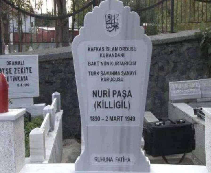 Nuri Killigil Paşa mezarı