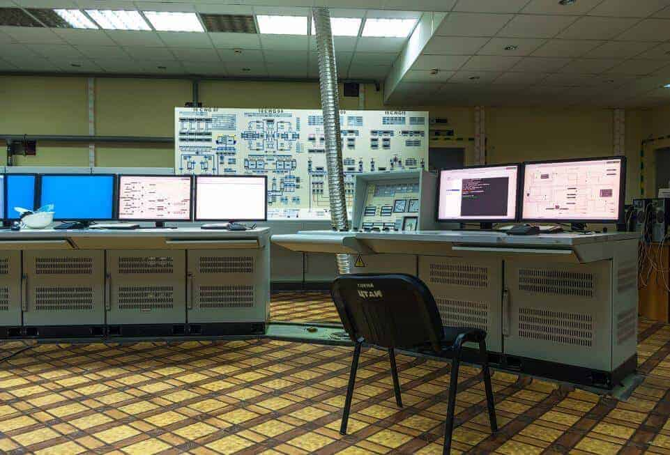 nükleer enerji santrali kumanda odası