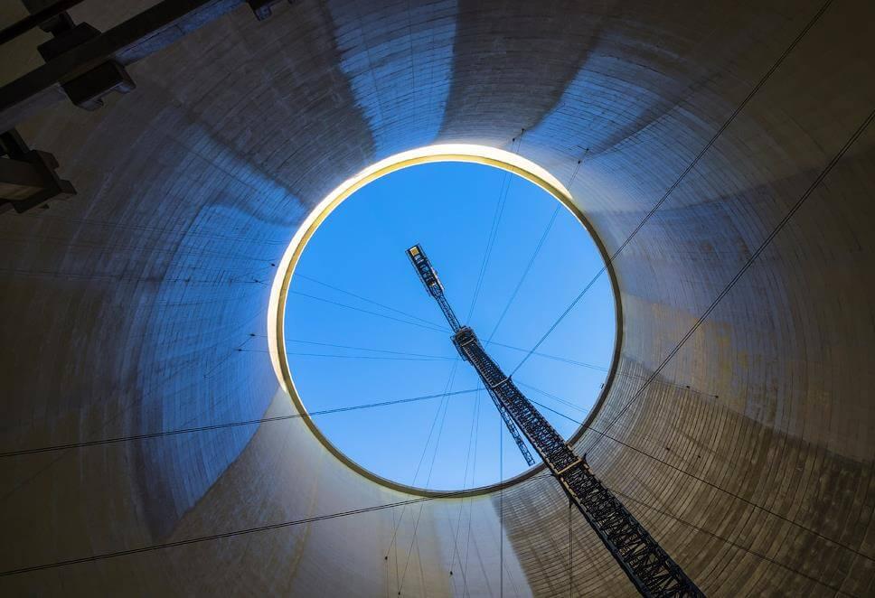 nükleer soğutma kulesinin içi