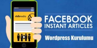 Facebook Instant Articles Kurulumu