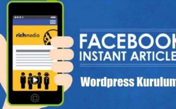 Facebook Instant Articles Kurulumu