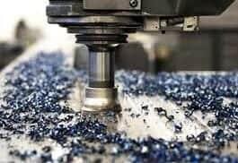 Talaşlı imalatta bir delme işlemi