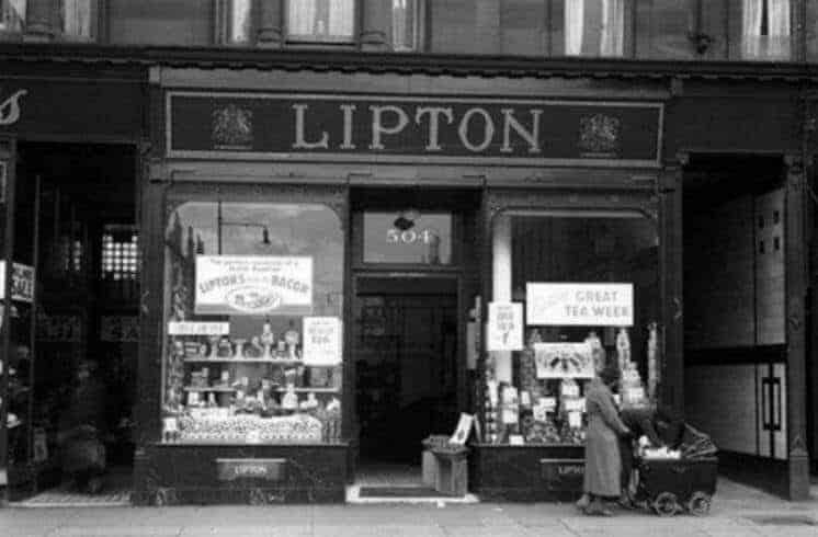 İlk açılan Lipton dükkanı