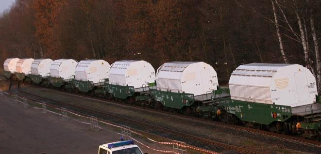 nükleer atıkların taşınması