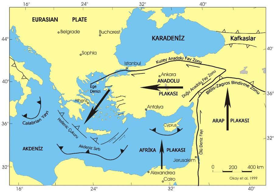 Anadolu ve çevresinin tektonik özellikleri