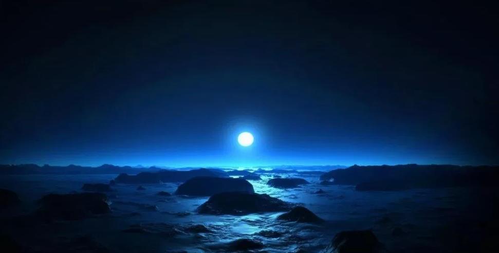 marsta mavi gün batımı