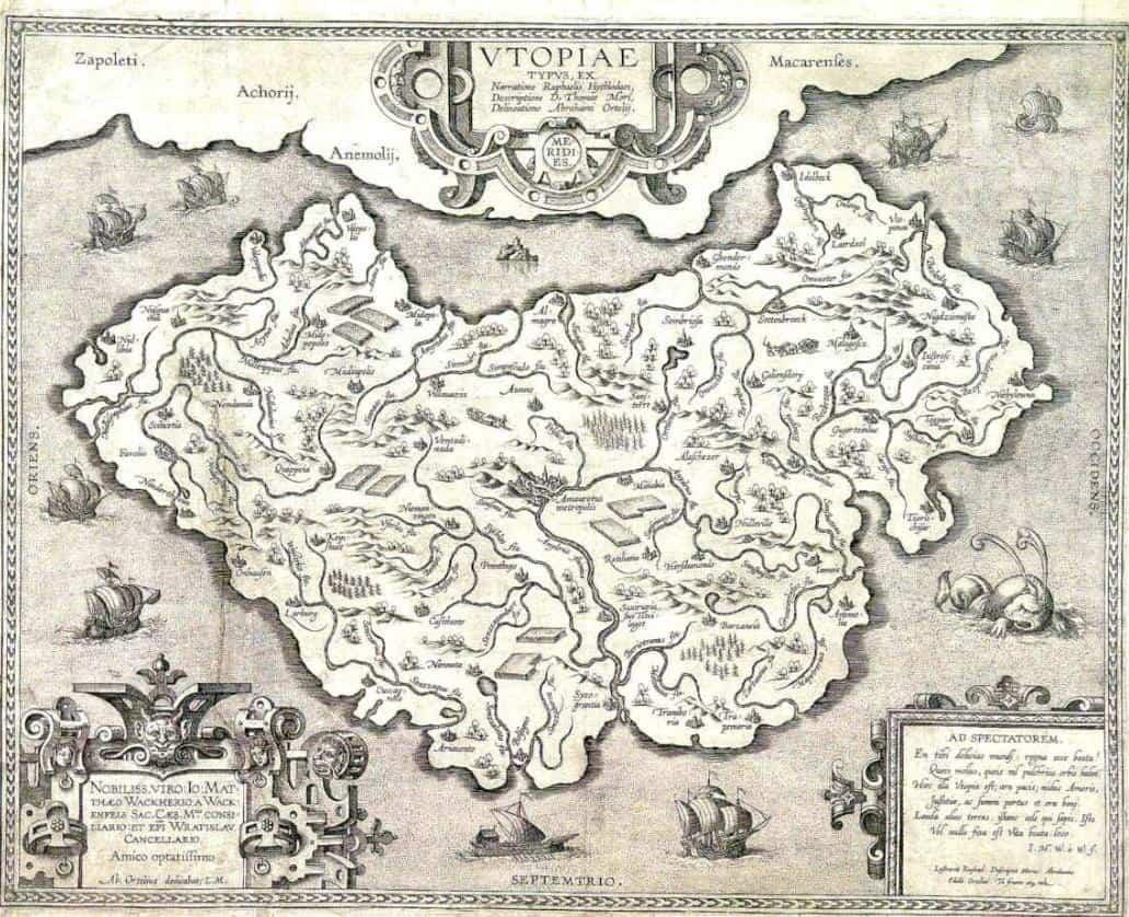 Thomas More Ütopya haritası