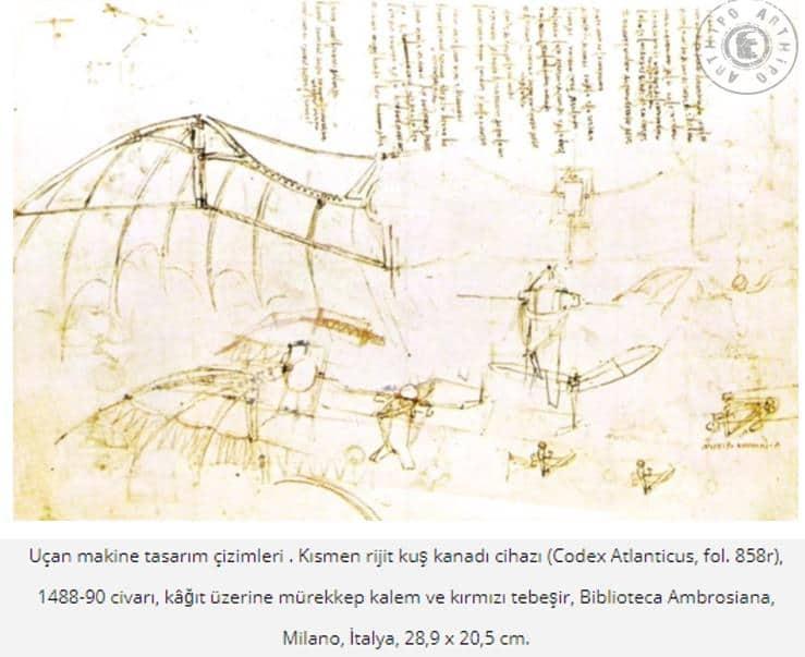 Da Vinci'ninUçan makine tasarımları
