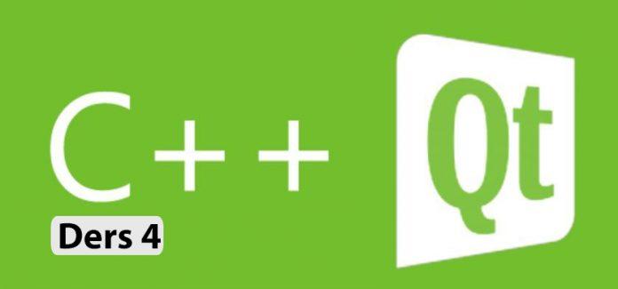 qt ile grafik arayüz programlama 4 ders